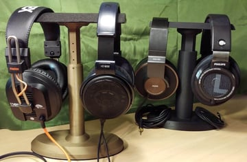 Image of Best Headphone Stand: Dual Headset Stand