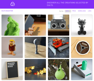 Image of Free STL Files, 3D Printer Files, 3D Printer Models & 3D Printing Designs: Cults