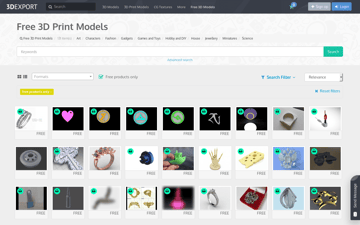 Image of Free STL Files, 3D Printer Files, 3D Printer Models & 3D Printing Designs: 3DExport