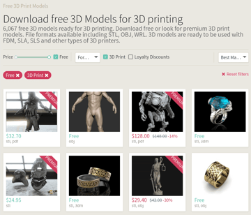Image of Free STL Files, 3D Printer Files, 3D Printer Models & 3D Printing Designs: CGTrader