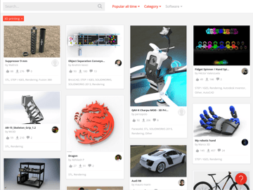 Image of Free STL Files, 3D Printer Files, 3D Printer Models & 3D Printing Designs: GrabCAD Library