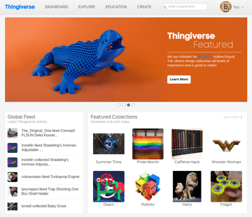 Image of Free STL Files, 3D Printer Files, 3D Printer Models & 3D Printing Designs: Thingiverse