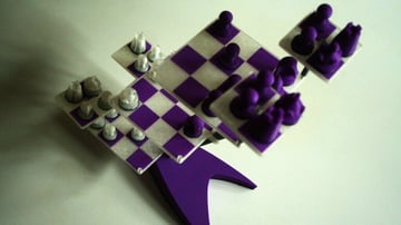 Image of 3D Printed Chess Set: 3D-Chess Board