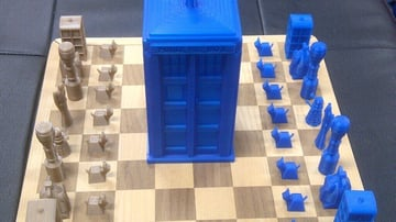 Image of 3D Printed Chess Set: Dr. Who Chess Set