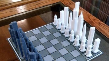 Image of 3D Printed Chess Set: Skyscraper Chess Set