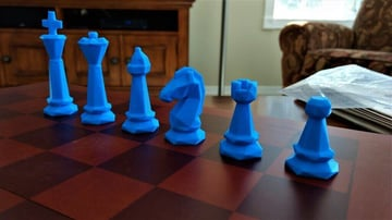 Image of 3D Printed Chess Set: Low Poly Chess Set