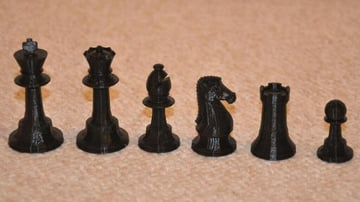 Image of 3D Printed Chess Set: Classic Orthodox Chess Set