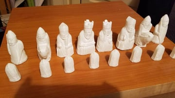 Image of 3D Printed Chess Set: Lewis Chessmen