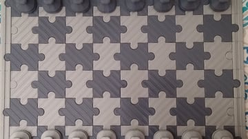 Image of 3D Printed Chess Set: Puzzle Board