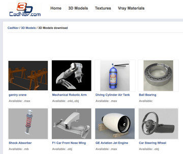 Imagem de Melhores sites para baixar modelos 3D gratuitos: CADNav