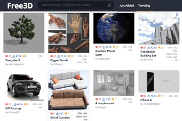 Imagen de Modelos 3D gratuitos: Free3D