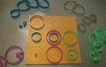 Image of DIY Board Games You Can Make with a 3D Printer: 4 Person Tic-Tac-Toe