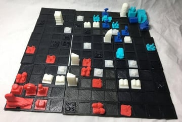 Image of DIY Board Games You Can Make with a 3D Printer: Wild Spaces Base Builder Game