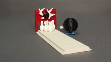 Image of DIY Board Games You Can Make with a 3D Printer: Wind-Up Bowling
