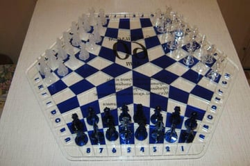 Image of 3D Printed Chess Set: 3-Person Chess Board