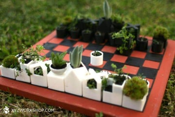 Image of 3D Printed Chess Set: Planter Chess Set