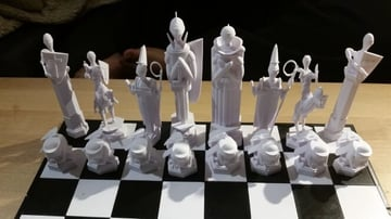 Image of 3D Printed Chess Set: Wizard's Chess Set