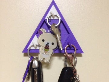 Image of Cool Custom Keychains to 3D Print: Prism Organizer