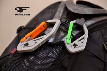 Image of Cool Custom Keychains to 3D Print: Strong Flex Door Carabiner