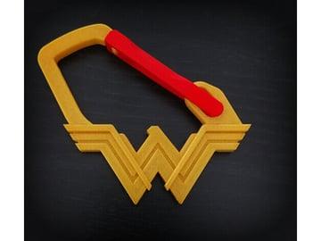 Image of Carabiner Clip to 3D Print: Wonder Woman Flex Door Carabiner
