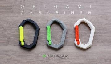 Image of Carabiner Clip to 3D Print: Origami Carabiner