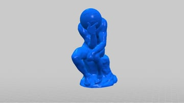 Image of Quirky Emoji 3D Printable Toys and Figures: Rodin's the Thinker (Emoji)