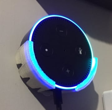 Image of The Best Echo Dot Accessories to 3D Print: Wall Cradle