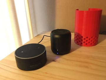 Image of The Best Echo Dot Accessories to 3D Print: Echo Dot + Anker SoundCore Mini Stand