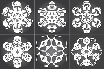 Image of Star Wars 3D Models to 3D Print: Star Wars Snowflakes