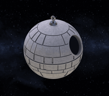 Image of Star Wars 3D Models to 3D Print: Death Star Birdhouse
