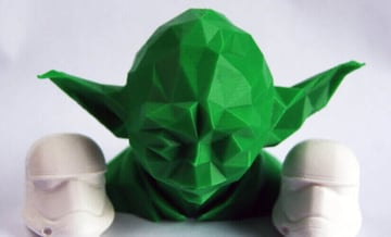 Image of Star Wars 3D Models to 3D Print: Low Poly Yoda