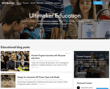 Image of Resources for 3D Printing Classes and Curriculum: Ultimaker