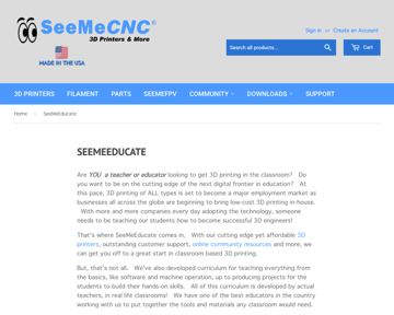 Image of Resources for 3D Printing Classes and Curriculum: SeeMeCNC
