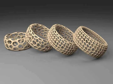 Image of 10 Things Worth Printing with a 3D Printing Service: Voronoi Bracelet