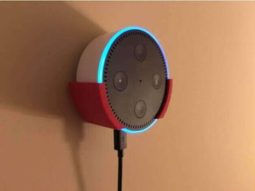 Image of 10 Things Worth Printing with a 3D Printing Service: Amazon Echo Wallmount