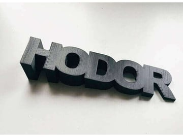 Image of 10 Things Worth Printing with a 3D Printing Service: Hodor Doorstop