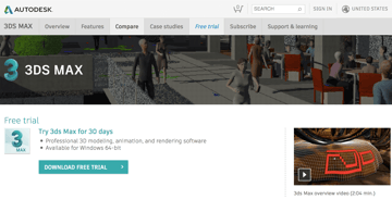 Image of 3ds Max Free Trial Versions: Full Version