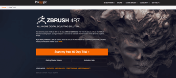 Image of ZBrush Free Trial & Budget Versions: How to access the free trial?