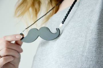 Image of Movember 3D Printing Projects: Moustache Necklace
