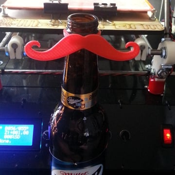 Image of Movember 3D Printing Projects: Bottle Mustache