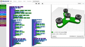 Image of Best Free CAD Software (2D/3D CAD Programs): BlocksCAD