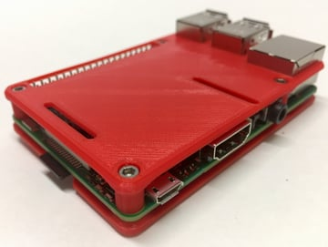Image of Custom Raspberry Pi Case to 3D Print: Minimal Raspberry Pi 3 Case