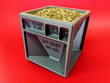 Image de Objets 3D utiles à imprimer en 3D: Cube doseur