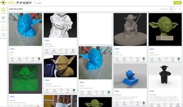 Image of Yeggi & Co. – Which Is The Best 3D Print Search Engine?: STLFinder