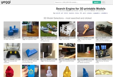 Image of Yeggi & Co. – Which Is The Best 3D Print Search Engine?: Yeggi