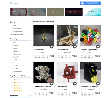 Image of Free STL Files, 3D Printer Files, 3D Printer Models & 3D Printing Designs: XYZprinting 3D Gallery