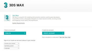 Image of 3ds Max Free Trial Versions: Educational Version