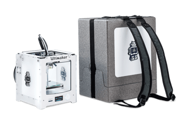 Ultimaker 2 Go with backpack