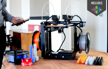 Image of Dual Extruder 3D Printer Buyer's Guide: Makergear M3-ID Rev.1