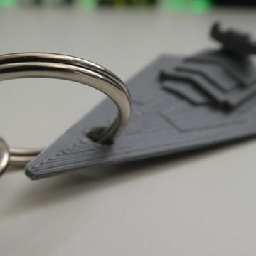 Image of Star Wars 3D Models to 3D Print: Star Destroyer Keychain